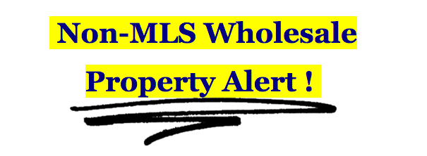 non-mls wholesale property minnesota off marke deals