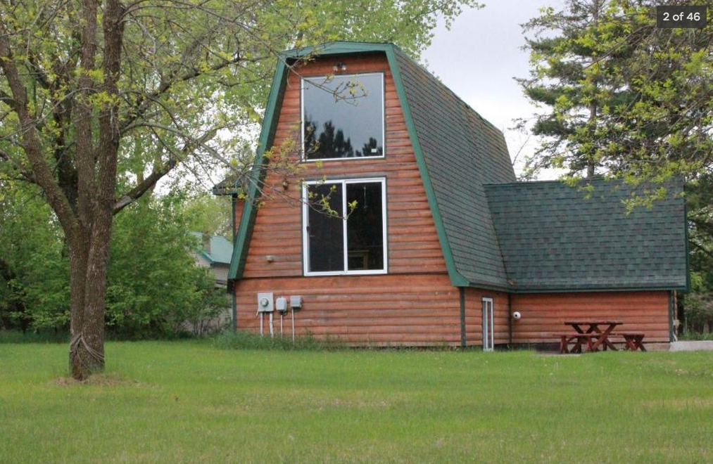 Unique A-Frame Log Home for Sale in Great Park Rapids Location